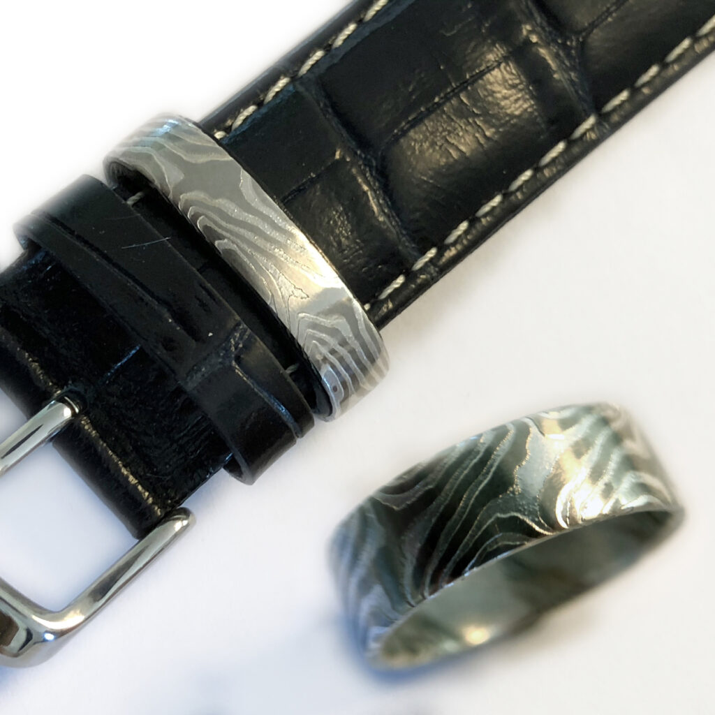 Mokume Gane als Ring und Uhrenband