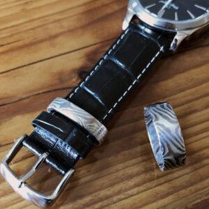 Mokume Gane Ring und Uhrenschlaufe