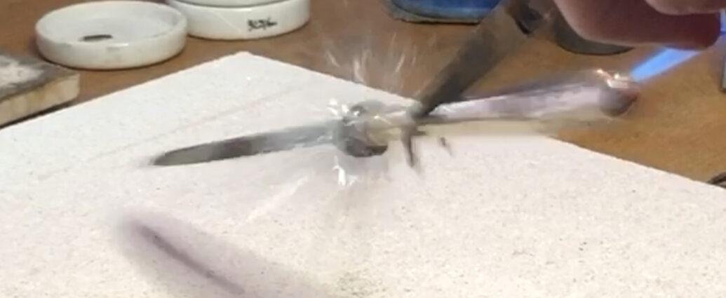 Messer auskitten