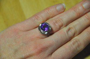 Amethyst-Ring, etwas aus der Mode geraten