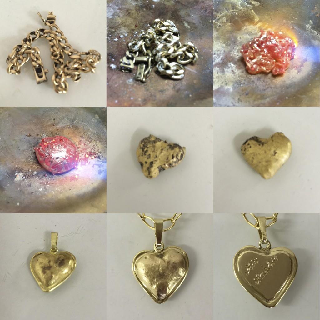 Der Weg vom Armband zum Herz aus (Alt-) Gold