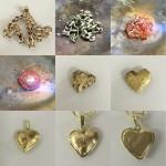 Herz aus Altgold
