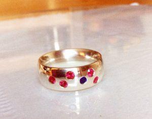 Rubin/Safir Ring