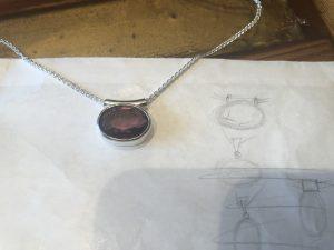 Skizze zu Amethyst in Silber