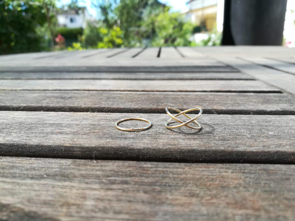 fertige Midi-Ringe