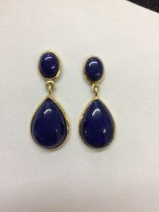 Lapis-Lazuli-Ohrstecker