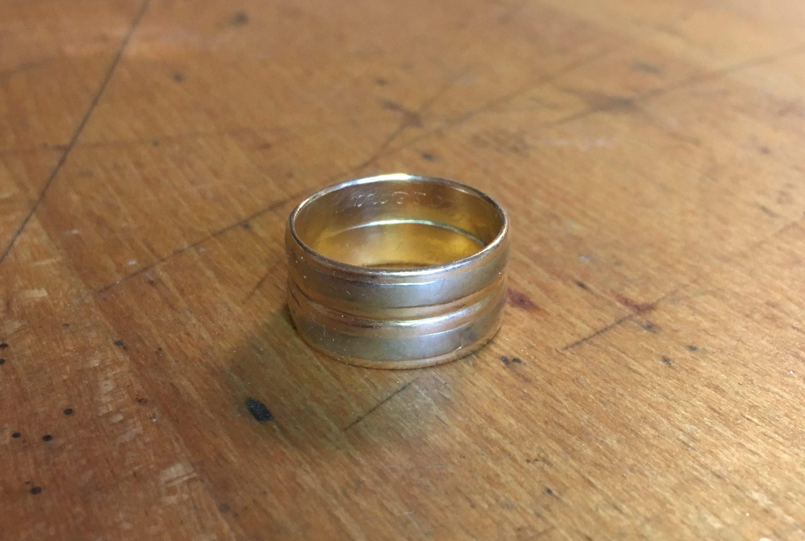 Witwenring Aus Zwei Eheringen Eheringe Bei 13