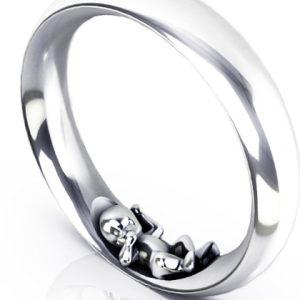 Schmaler Ring Jamie in Silber