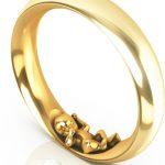 Schmaler Ring Jamie in Gelbgold
