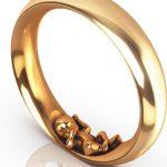 Schmaler Ring Jamie in Rotgold