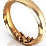 Schmaler Ring Jamie in Rosegold