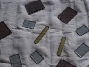 Die zugeschnittenen Glasscheiben