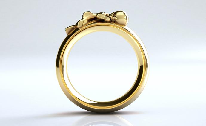 Ring Sam in Gold