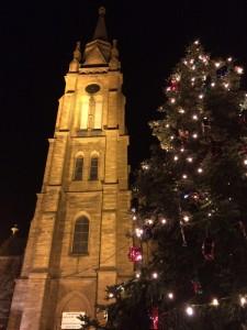 Der Kirchturm der Statkirche Langen