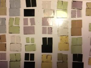 Die fertigen Glasscheiben in Sets sortiert